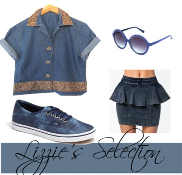 skirt denim vans glasses sunglasses crop tops