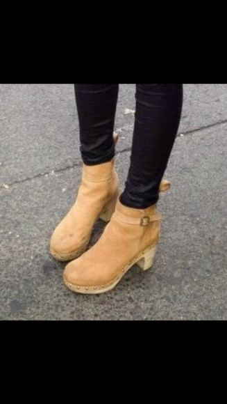 shoes camel boots boots ankle boots wedge wedges camel wedge stud studded boots studded ankle boots camel suede booties