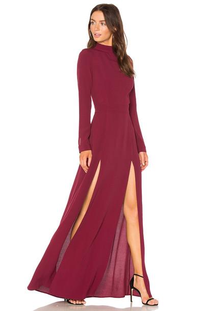 FLYNN SKYE dress maxi dress maxi burgundy