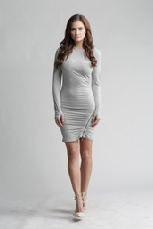 dress,grey,date outfit,cute,fashionista,party,out,girls night out,outfit,sexy,cool,confident,elegant,elegance,style,fashion,zip,short dress,tight,bodycon dress,form fitting,bella bella