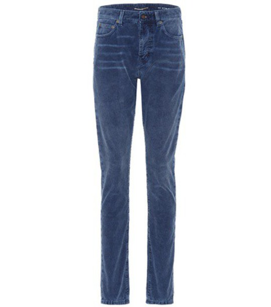 Saint Laurent Corduroy trousers in blue