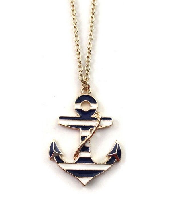 "1pcs Fashion Jewelry Anchor 1 1""x1 4"" PENDANT20""Necklace Gift EB91 