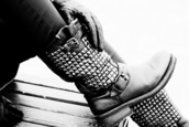 boots,studs,studded,leather,biker,shoes