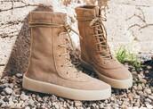 shoes,boots,yeezy,fashion,flat boots,brown,yeezy boost season 2,boost season 2
