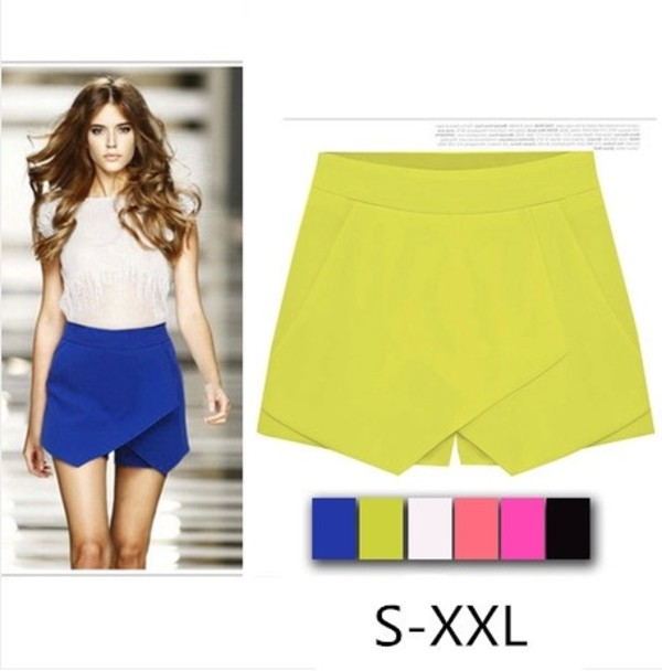 2014 Candy Color Leisure flounced wild thin shorts Women culottes ...