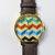 Chevron 3D Watch, Vintage Style Leather Watch, Women Watches, Unisex Watch, Boyfriend Watch,