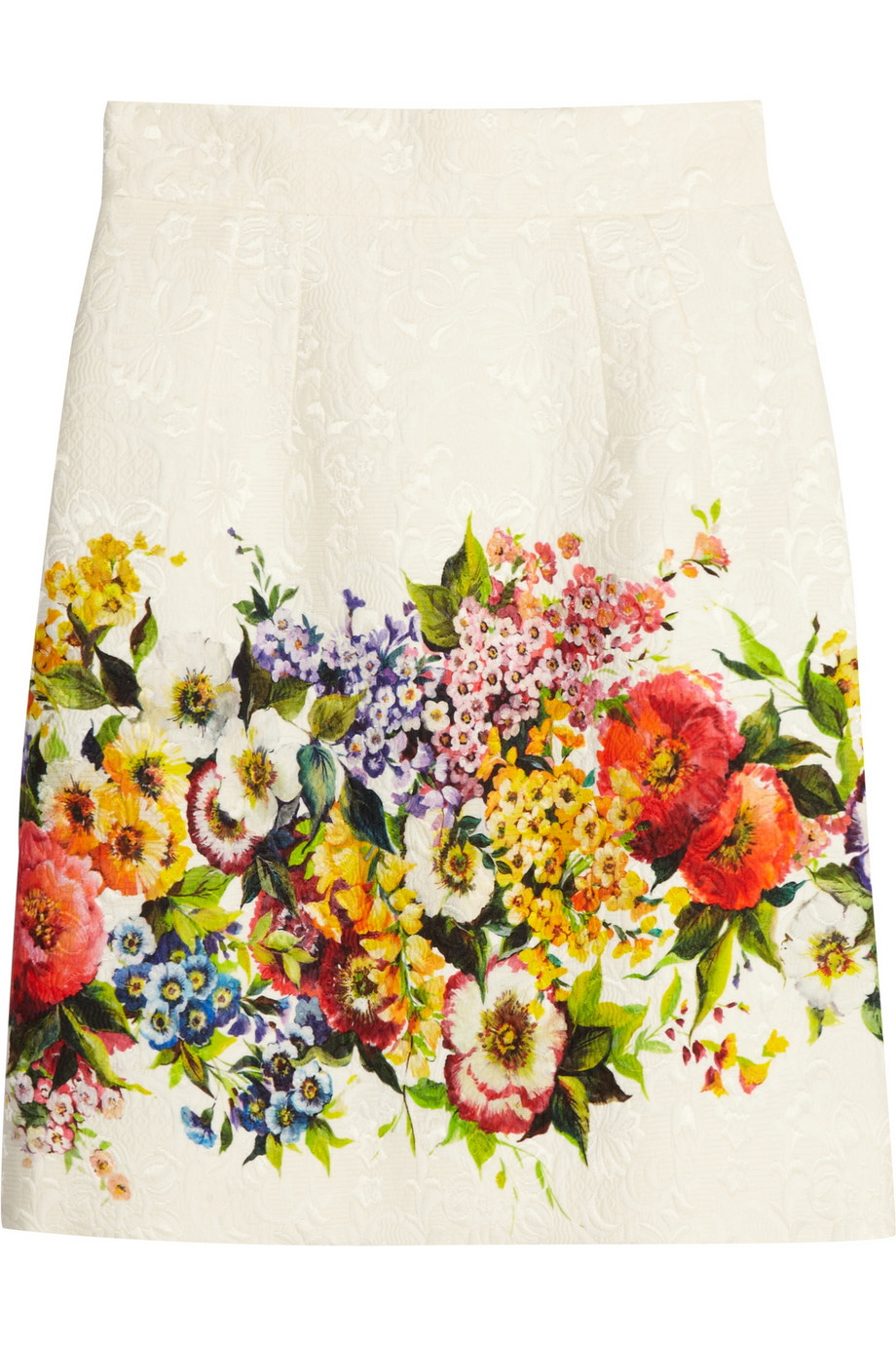 0483c1e0 Dolce & Gabbana Floral-brocade skirt – 50% at THE OUTNET.COM