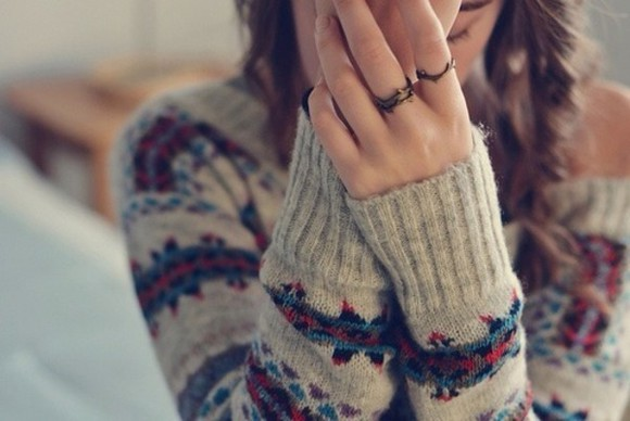 patterned sweater pattern indie hipster warm sweater fall outfits sweater