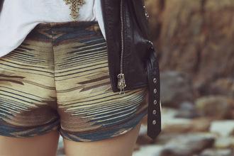shorts ethnic short ethnic print ethnic
