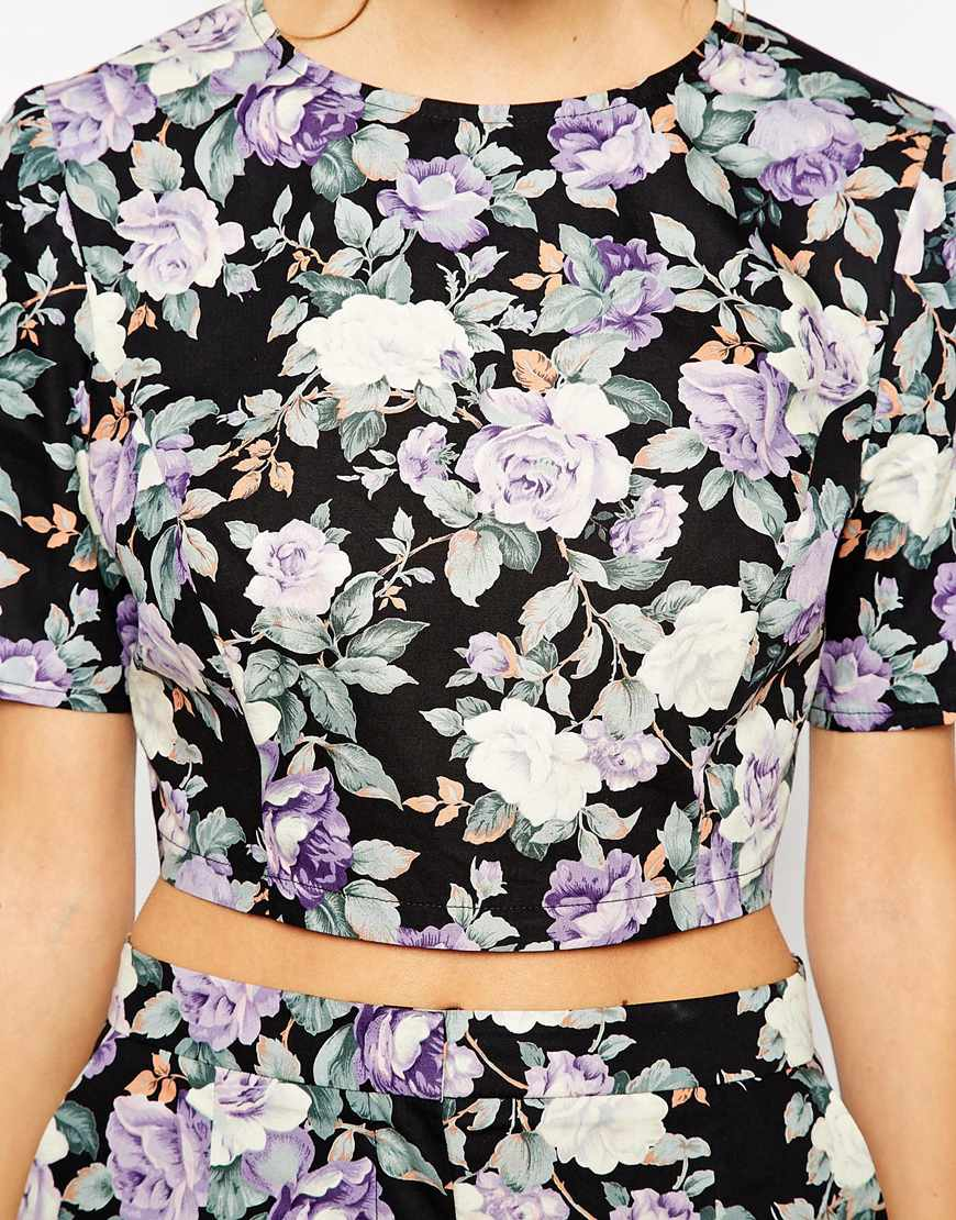 Reclaimed Vintage Purple Floral at asos.com