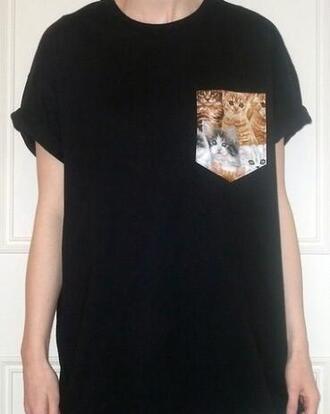 t-shirt pocket tee pocket t-shirt palm tree print shirt with pocket shirt pocket