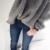 sweater,grey,grunge,pretty,girly,fashion,jeans,belt,top,grey sweater,fluffy,black dress,shorts,bikini,knitted sweater,wool,winter sweater,denim,dark denim,warm sweater,comfy,blouse