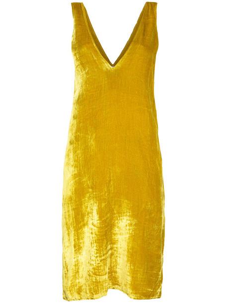 AERON dress women silk yellow orange