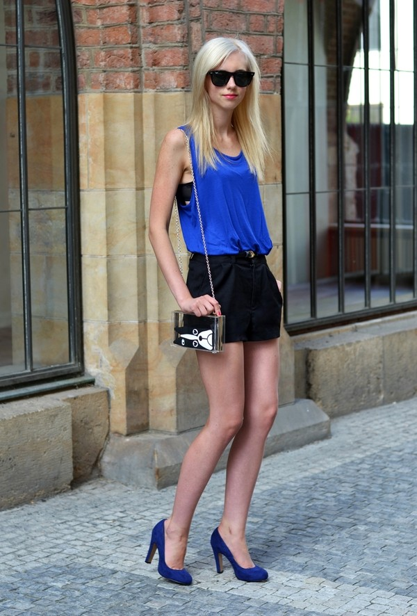 vogue haus t-shirt shorts shoes bag sunglasses jewels