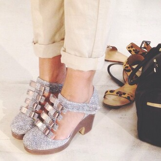 bag glitter shoes ribbon heels tokyobanhbao