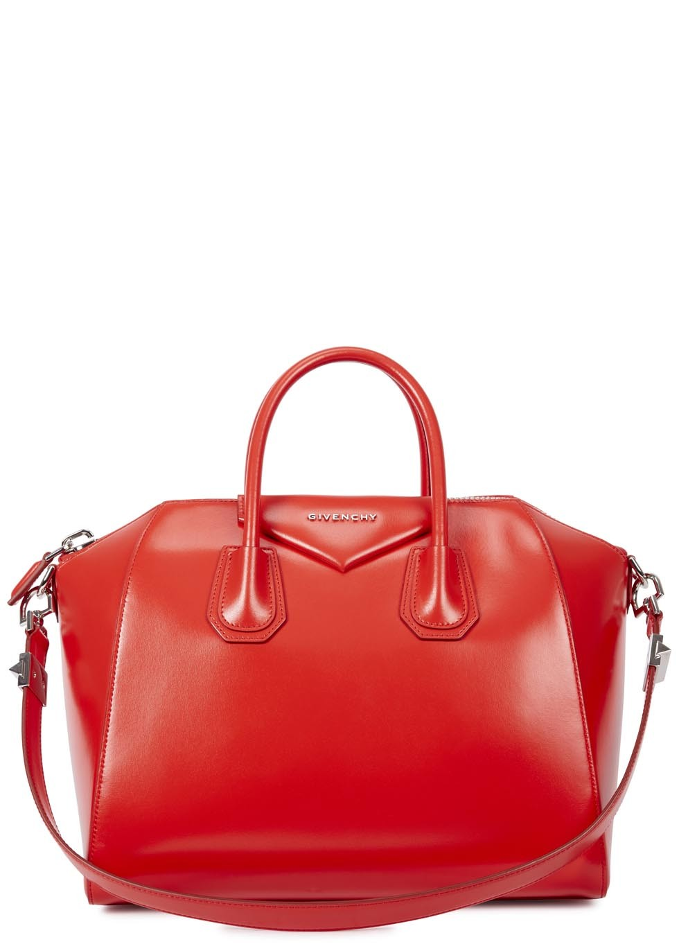 Givenchy Antigona red leather tote