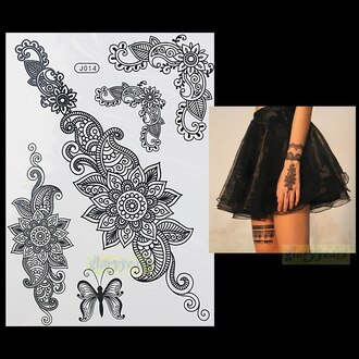 jewels tattoo temporary tattoo fake tattoos summer flowers