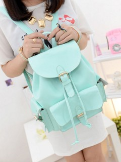 Choies mint green preppy style backpack