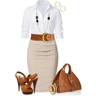 skirt pencil skirt waist belt sandal heels