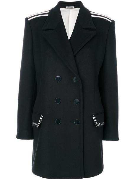 Tomas Maier women boyfriend black wool coat