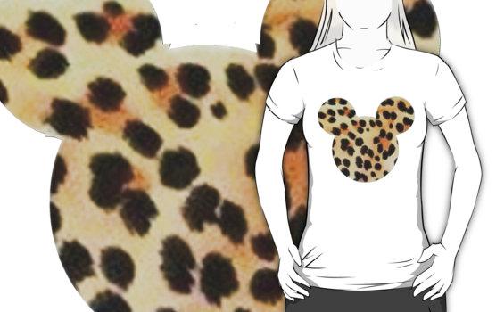 """cheetah print mickey mouse"