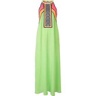 dress maxi dress colorblock