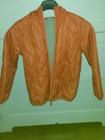 jacket orange windbreaker bossini