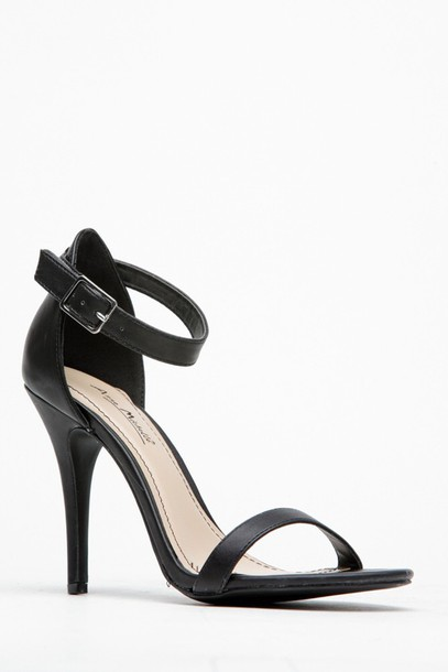 shoes black low heels simple