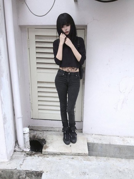 top beauty style dark short hair wylona hayashi girl goth