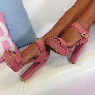 shoes high heels rose high heels plateau platform highheels crocodile