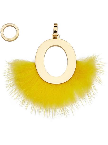 Fendi fur women pendant yellow orange jewels