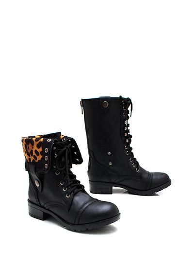 Zipping around combat boots $33.80 in blackleo