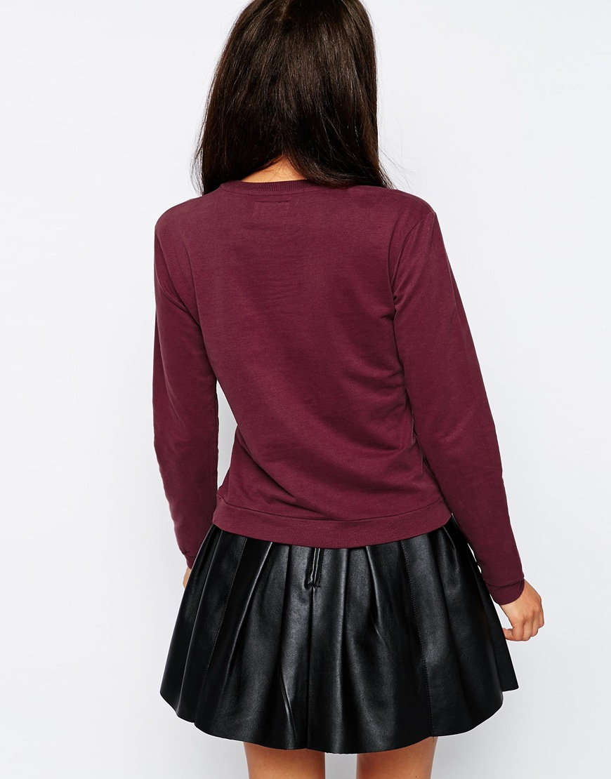 A Question Of Organic Fitted Sweat at asos.com