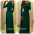 Aliexpress.com : Buy Fashion Scoop Neck Long Sleeves With Belt Forset Green Long Maxi Dress Formal Long Dress Fashion from Reliable sleev suppliers on SFBridal