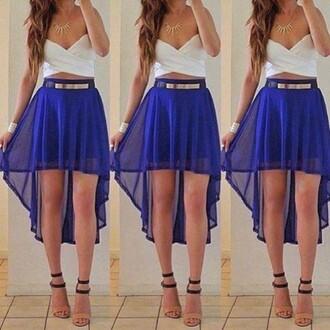 skirt high-low dresses