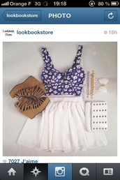 shoes,sandals,wedges,brown,crop tops,bustier,flowers,white