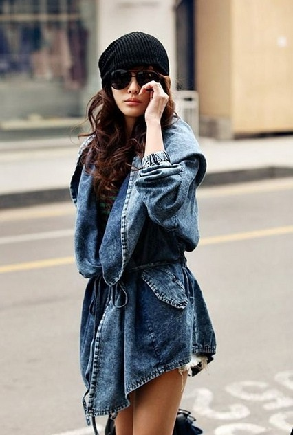 Free Shipping Washed denim jacket big hat fashion autumn coat FT355-in Basic Jackets from Women's Clothing & Accessories on Aliexpress.com   Alibaba Group