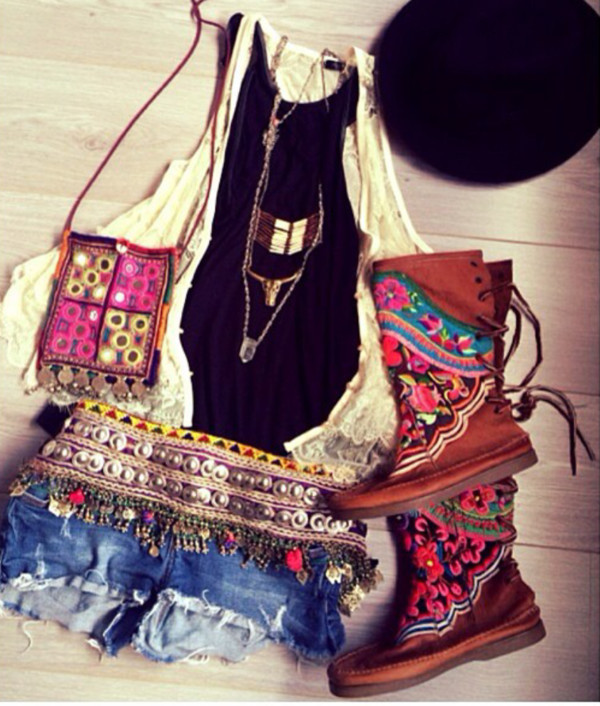shoes boots gypsy coachella jewels shorts