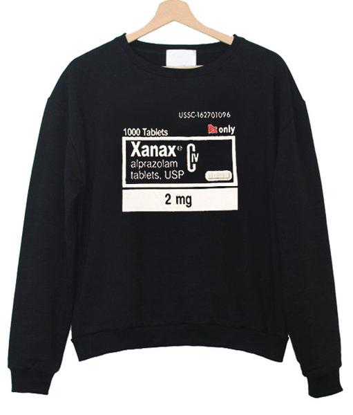 xanax alprazolam sweatshirt