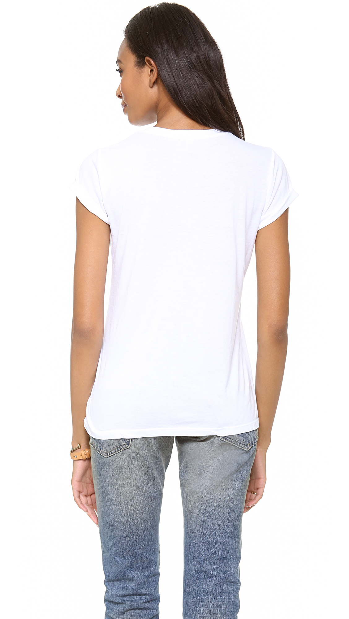 Splendid Very Light Jersey V Neck Tee | SHOPBOP