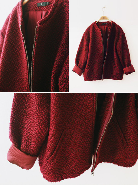 jacket burgundy swedish
