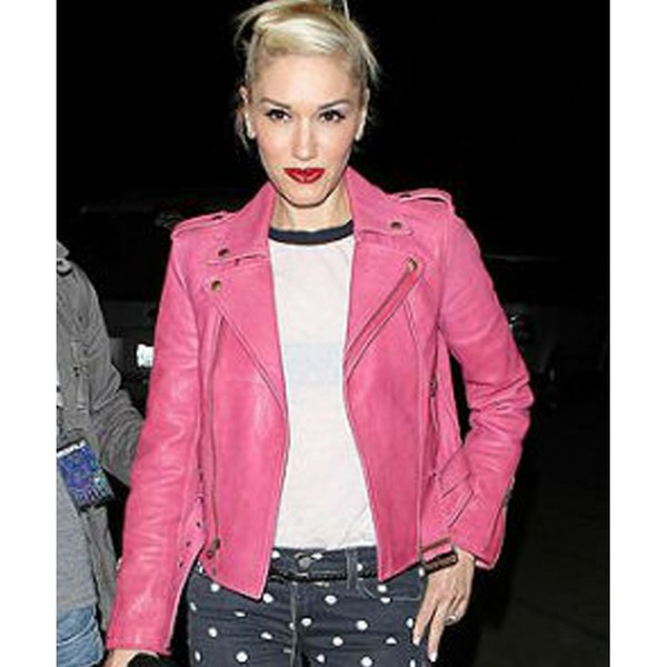 Gwen Stefani Jacket | Women's Hot Pink Leather Jacket