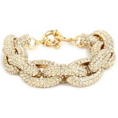 Audrey pavé link bracelet by mir