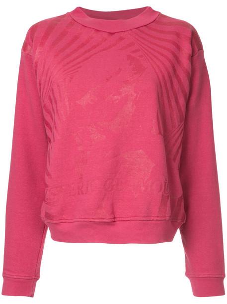 Hysteric Glamour - tonal graphic print sweatshirt - women - Cotton - One Size, Pink/Purple, Cotton