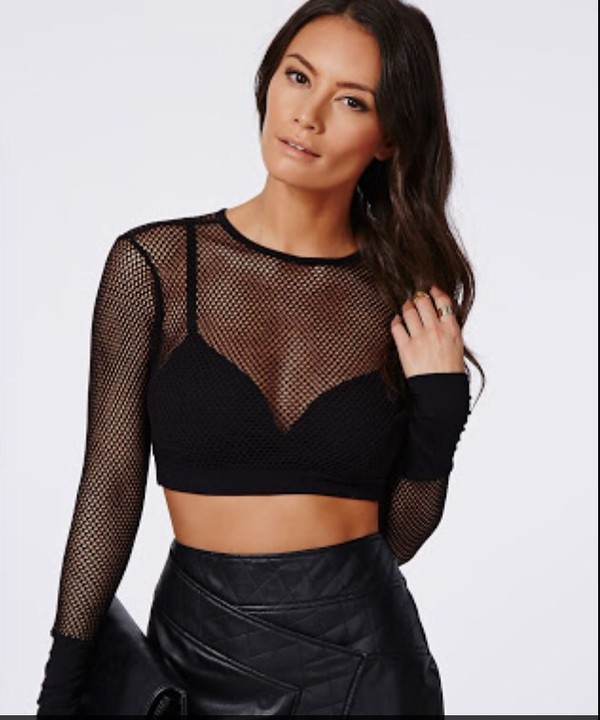 Top Crop Tops Short Top Party Skirt Dress Mesh Mesh