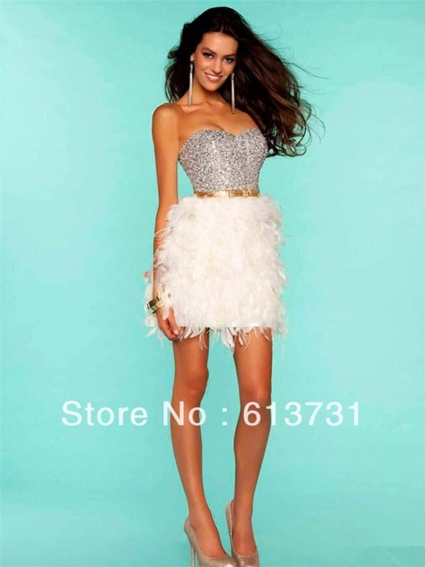 dress dress love more new year's eve i wanna feather dress feathers bling dress bling white