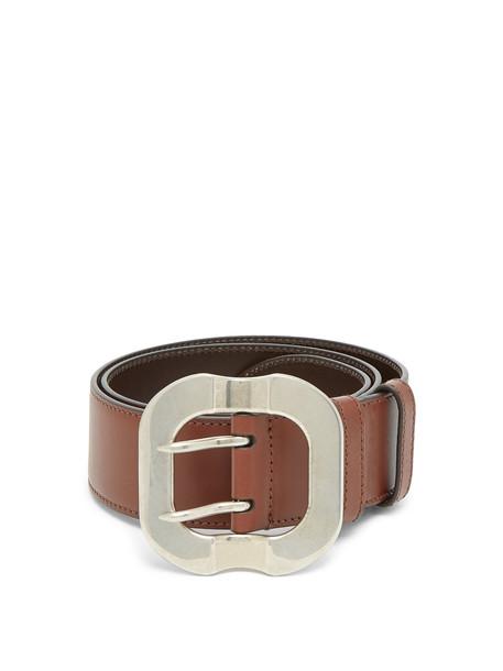 MIU MIU Leather belt in tan