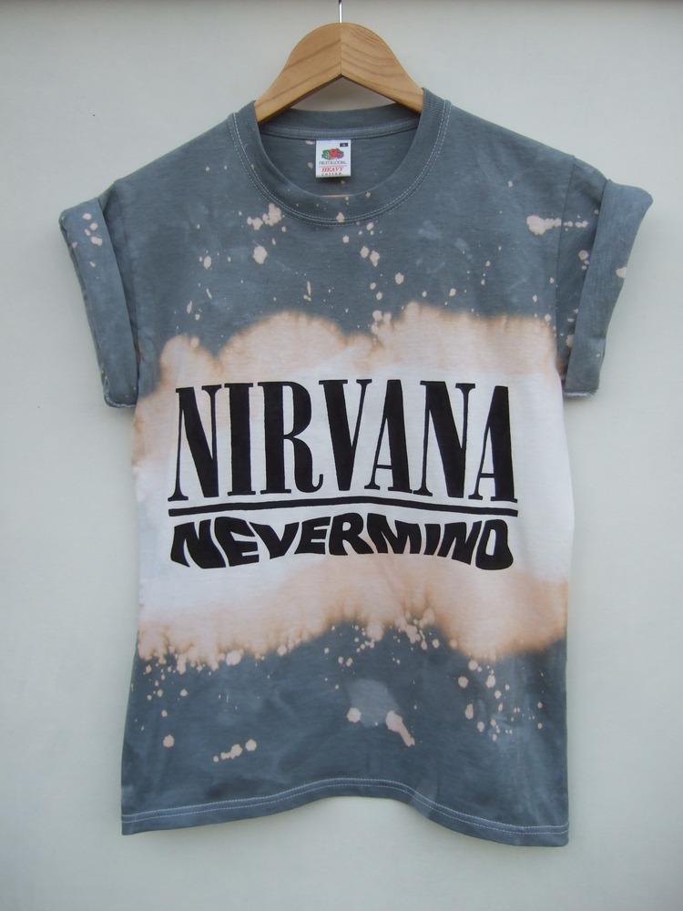 Tappington and wish — nirvana nevermind acid wash t shirt
