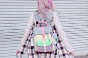 blogger,bag,kayla hadlington,cardigan,shirt