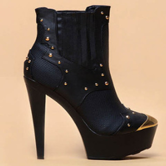 shoes heels booties black booties studded shoes gold black